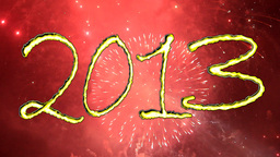 2013 PLUS FIREWORKS Stock Video Footage