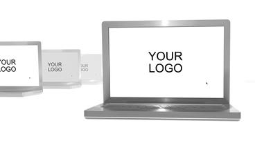Multiple Laptops Logo Reveal After Effects Template