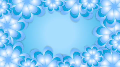 Blue abstract flowers video animation Animation