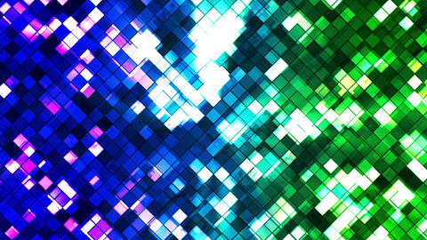 Broadcast Twinkling Squared Diamonds, Blue Green, Abstract, Loopable, HD Animation