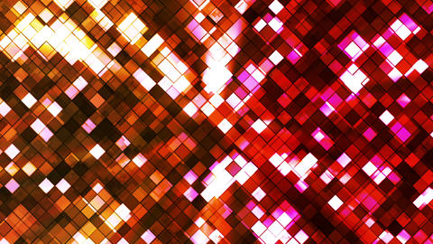 Broadcast Twinkling Squared Diamonds, Yellow Red, Abstract, Loopable, HD Animation