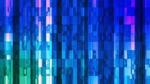 Broadcast Twinkling Vertical Hi-Tech Bars, Blue, Abstract, Loopable, HD Animation