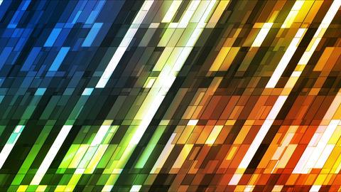 Broadcast Twinkling Slant Hi-Tech Small Bars, Multi Color, Abstract, Loop, HD Animation