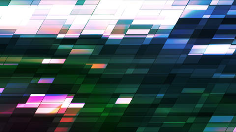 Twinkling Horizontal Slant Hi-Tech Small Bars, Multi Color, Abstract, Loopable, HD Animation