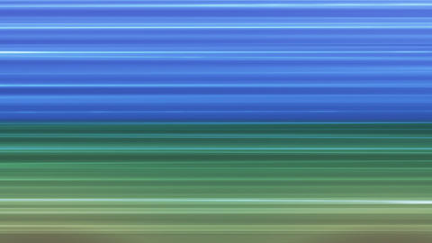 Broadcast Horizontal Hi-Tech Lines, Blue Green, Abstract, Loopable, HD Animation