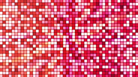 Broadcast Twinkling Hi-Tech Cubes, Red, Abstract, Loopable, HD Animation