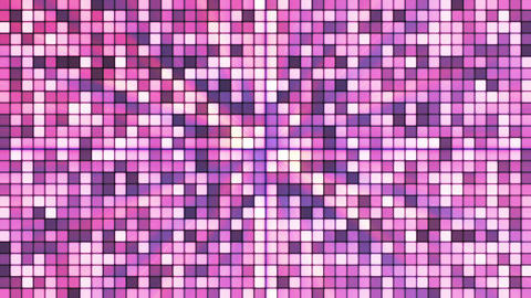 Broadcast Twinkling Hi-Tech Cubes, Purple, Abstract, Loopable, HD Animation