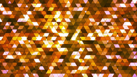 Broadcast Twinkling Squared Hi-Tech Triangles, Orange Brown, Abstract, Loopable, Animation