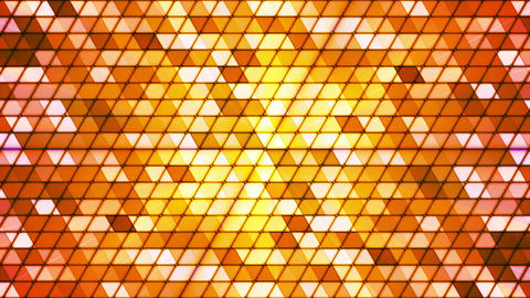 Broadcast Twinkling Cubic Hi-Tech Triangles, Orange Golden, Abstract, Loopable, Animation