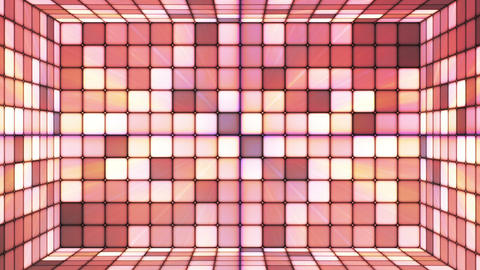 Broadcast Twinkling Hi-Tech Cubes Room, Brown, Abstract, Loopable, HD Animation