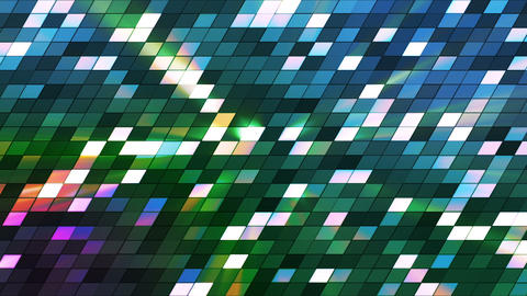 Broadcast Twinkling Slant Hi-Tech Squares, Blue Green, Abstract, Loopable, HD Animation