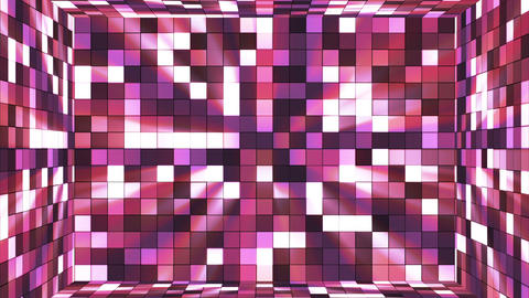 Broadcast Twinkling Hi-Tech Squares Room, Purple, Abstract, Loopable, HD Animation