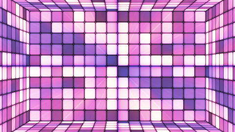 Broadcast Twinkling Hi-Tech Cubes Room, Purple Magenta, Abstract, Loopable, HD Animation