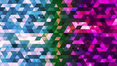 Broadcast Twinkling Polygon Hi-Tech Triangles, Multi Color, Abstract, Loop, HD Animation