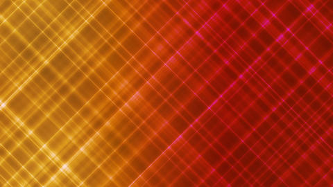 Broadcast Intersecting Hi-Tech Slant Lines, Yellow Red, Abstract, Loopable, HD Animation