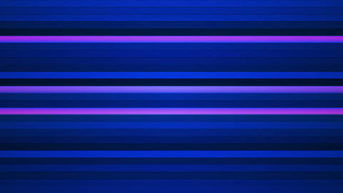 Broadcast Twinkling Horizontal Hi-Tech Bars, Blue Pink, Abstract, Loopable, HD Animation