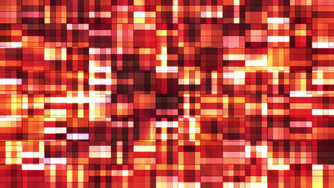 Broadcast Twinkling Squared Hi-Tech Blocks, Orange Red, Abstract, Loopable, HD Animation