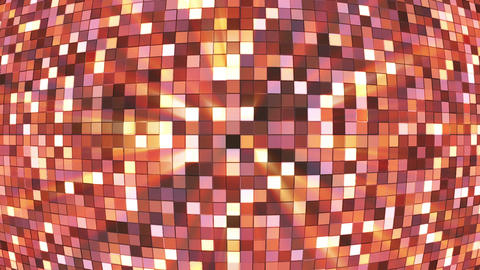 Broadcast Twinkling Hi-Tech Squares Globe, Brown, Abstract, Loopable, HD Animation