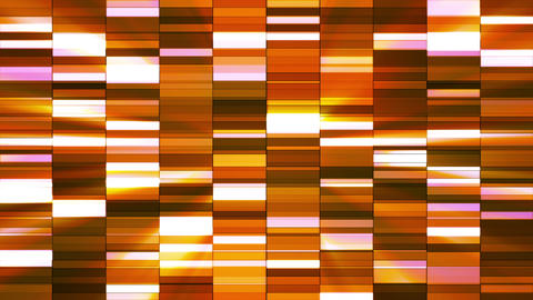 Twinkling Horizontal Small Squared Hi-Tech Bars, Orange Golden, Abstract, Animation