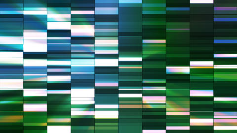 Twinkling Horizontal Small Squared Hi-Tech Bars, Blue Green, Abstract, Loop, HD Animation
