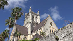 Bermuda capital city Hamilton Cathedral of the Most Holy Trinity Footage