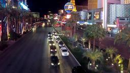 Las Vegas Strip - time lapse scene Footage