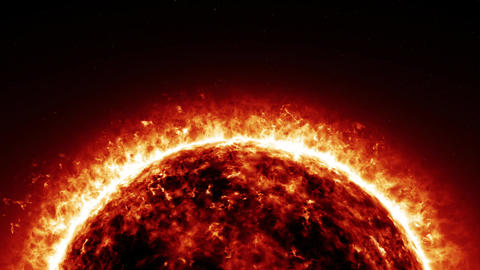Powerful Horizontal Space Sun (30 seconds version) Animation