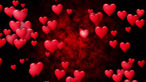 Valentines Day concept. Hearts generation anomation. Motion. Seamless loop Image