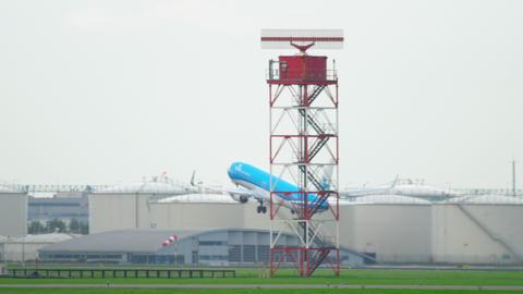 KLM Boeing 737 take-off Footage