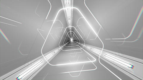 VJ Loop Triangle Tunnel CG動画