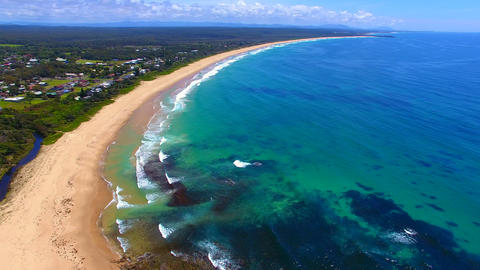 stunning aerial of one mile beach Live Action