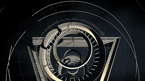 Seamless looped abstract tunnel motion graphics Animation