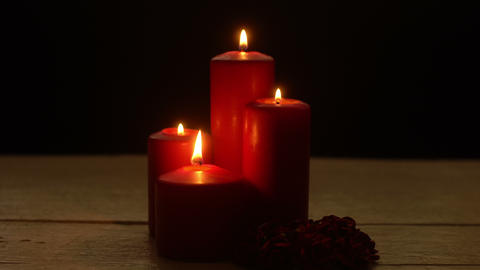 Romantic candles light Footage