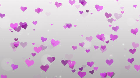 Pink Hearts on white background Footage