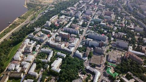 View of the Nizhny Novgorod Kremlin. Nizhny Novgorod, Russia, From Dron Footage