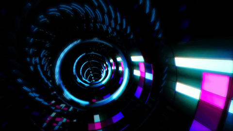 Looped seamless light tunnel for event, concert, presentation, music videos, Animation
