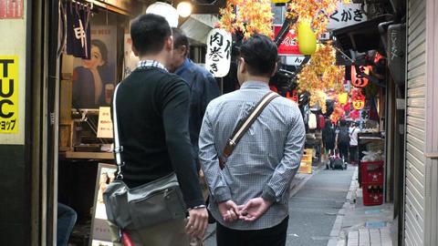 Japan Tokyo Shinjuku Omoide-yokocho October 2017 ライブ動画