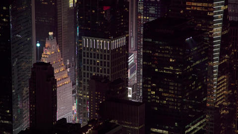 Aerial View times square NYC Footage