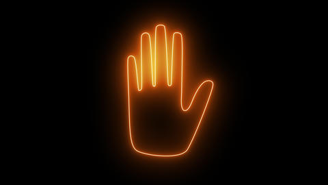hand in neon light 4K Stock Video Footage