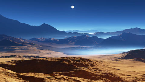 Extrasolar planet or exoplanet, another Earth-like planet Animation