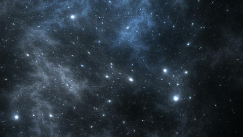 Time lapse video from dynamic space nebula Animation