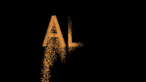 text ALL appears from the sand, then crumbles. Alpha channel Premultiplied - Animation