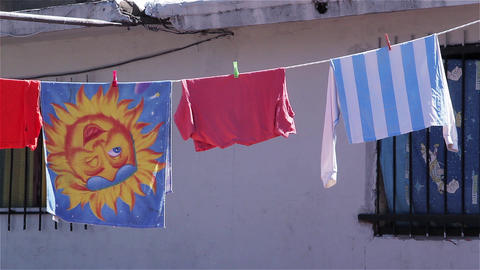 Drying clothes Outside Live Action