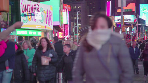 Times Square In NYC Footage
