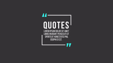 Quote Titles After Effects Templates
