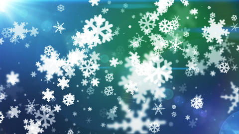 Broadcast Snow Flakes 12 Animation