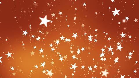 Broadcast Rising Hi-Tech Stars, Orange Golden, Events, Loopable, HD Animation