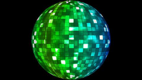 Firey Light Hi-Tech Squares Spinning Globe 02 Animation
