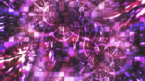 Twinkling Abstract Hi-Tech Light Patterns, Purple, Abstract, Loopable, HD Animation