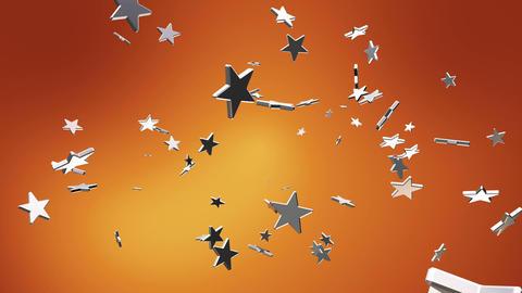 Broadcast Flying Hi-Tech Stars, Orange Golden, Events, Loopable, HD Animation